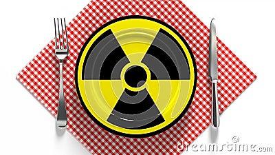 放射性食品 受辐射污染的食品 危险食品 股票录像
