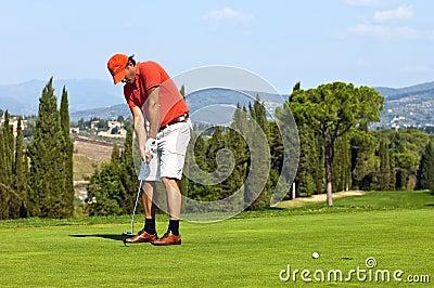 放置的高尔夫球