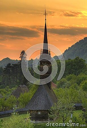 教会maramures木的罗马尼亚