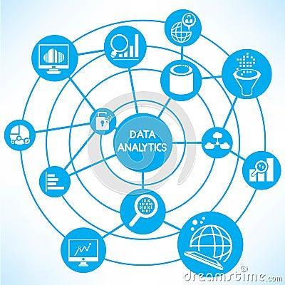 库存例证: 数据逻辑分析方法概念图片