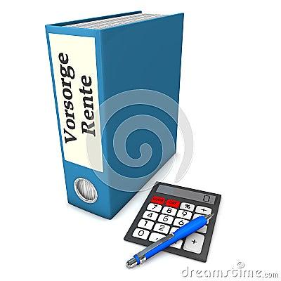 文件夹保险退休金