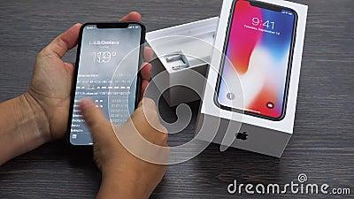 新的iPhone x 影视素材