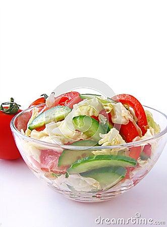 新鲜的沙拉蔬菜