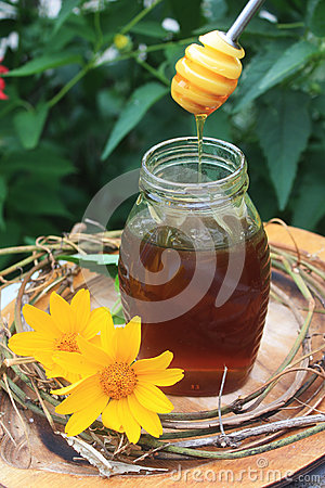 新鲜的蜂蜜