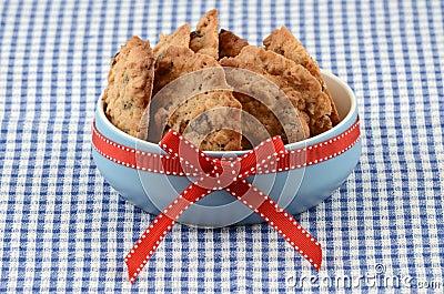 新鲜的被烘烤的曲奇饼