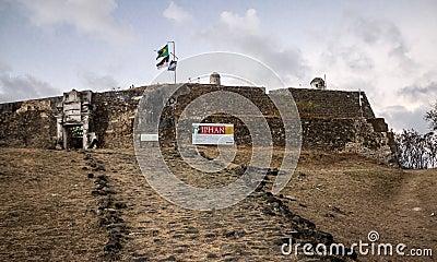 旗子费尔南多-迪诺罗尼亚岛 编辑类库存图片
