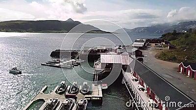 无人机飞越挪威水域 股票视频