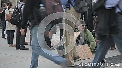 无家可归的人照片布拉格哀伤的街道