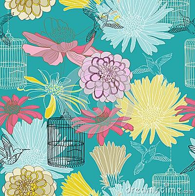 无缝的花卉模式