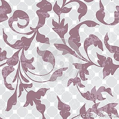 无缝的葡萄酒花卉背景