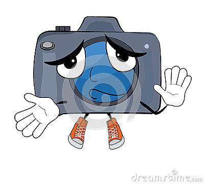 无辜的照相机动画片的传染媒介例证.