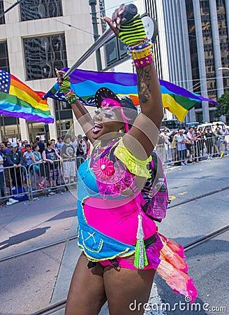 旧金山同性恋自豪日 图库摄影片
