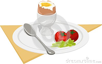 早餐。 向量