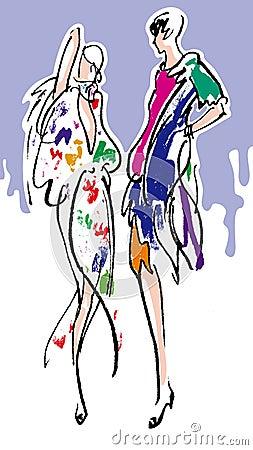 时装模特儿妇女