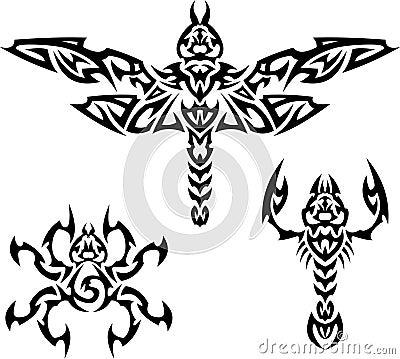 昆虫纹身花刺