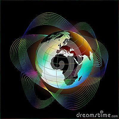 明亮的地球