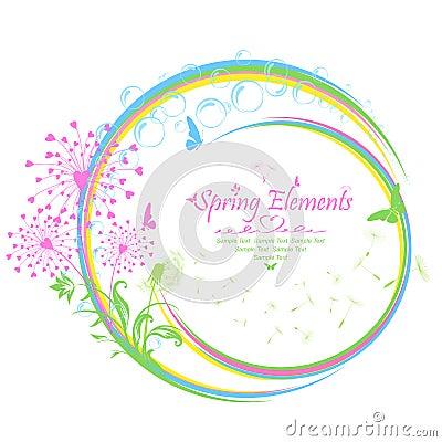 春天元素图片