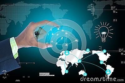 供以人员显示社会网络概念在有吸引力的背景.图片