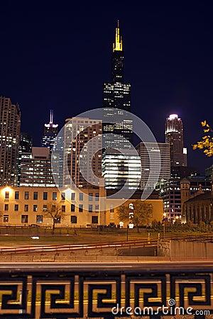 晚上在芝加哥