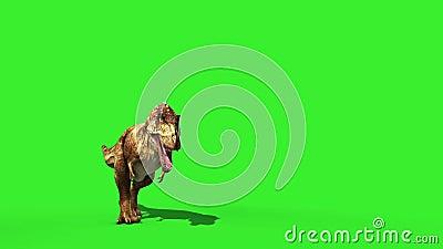 暴龙羽翼奔跑侏罗纪世界恐龙绿屏