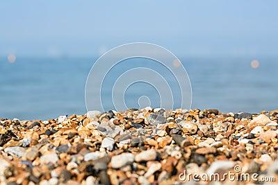 有卵石花纹的海滩