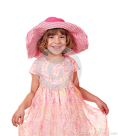 有大帽子的小女孩