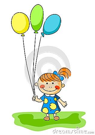 小�_有气球的小女孩
