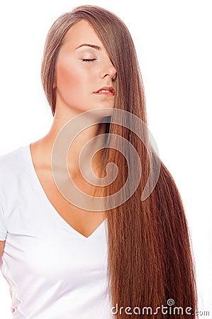 裸体u图片_有长的头发和裸体makeu的年轻美丽的女孩