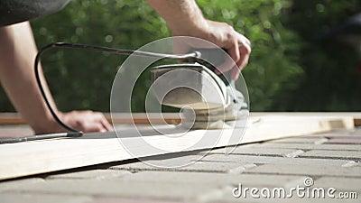细木工技术工作在家 影视素材