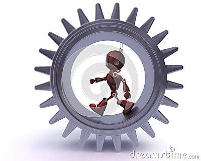 机器人和齿轮概念