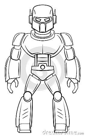 简笔画大白机器人_机器人技术