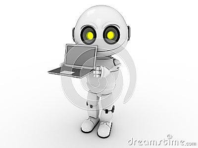 3d笔记本使机器人空白.图片