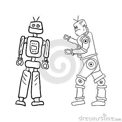 另外图画摆在机器人二向量.