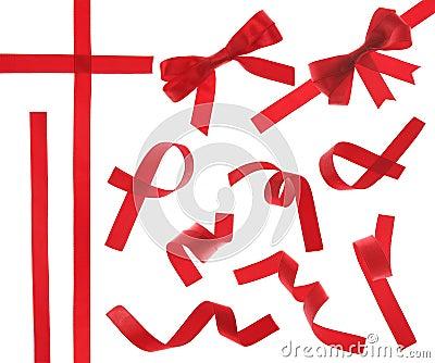 查出的红色丝带