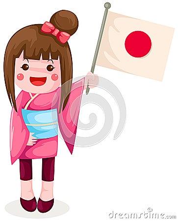 标志女孩藏品日语图片