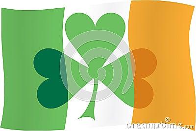 表示飞行爱尔兰三叶草的标志.图片
