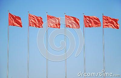 标志红色六