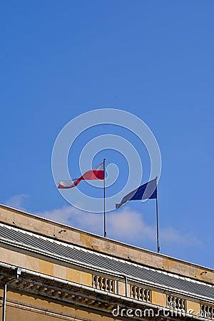 标志-波兰和欧盟