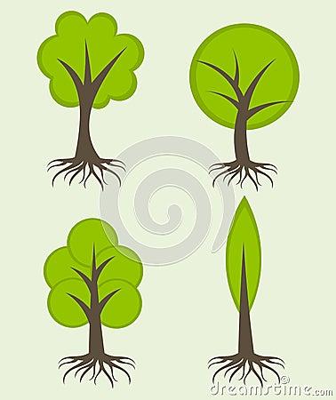 树的组成部分简单图片图片