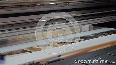 格式喷墨机大打印机 股票视频
