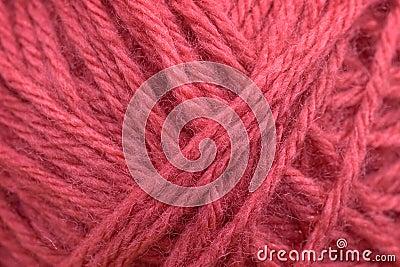 桃红色羊毛