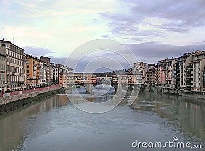桥梁佛罗伦萨意大利老ponte vecchio
