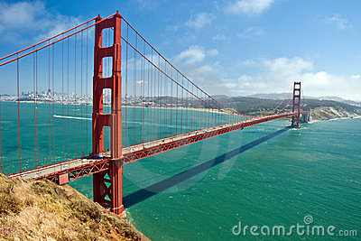 桥梁弗朗西斯科门金黄圣