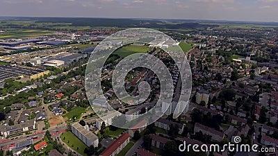 梅明根市美丽全景 德国 影视素材