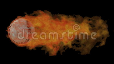 棒球发火焰 影视素材