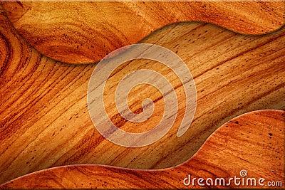 棕色木纹理空白。