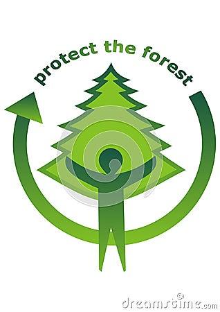 森林图标保护图片