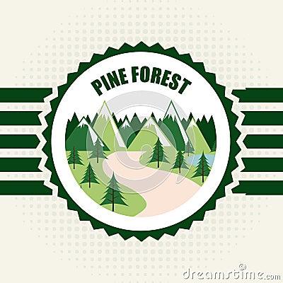 在白色背景传染媒介例证的森林设计.图片