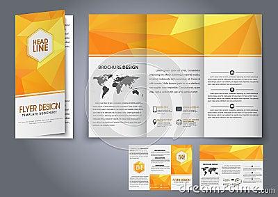 小册子橙色多角形元素做广告,打印和介绍的v橙色也corel凹道例证中国近代园林设计大家图片