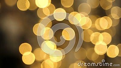 模糊的圣诞灯出于焦点背景 影视素材